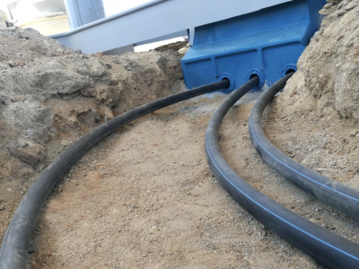 Double wall (HDPE) Piping installation7